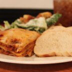 Lasagne with Salad and Bread